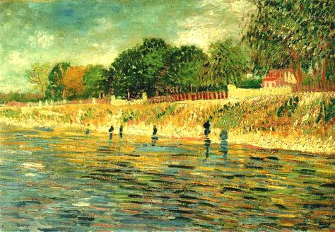 Gogh,  Vincent van (Dutch,  1853-1890)  -  Banks of the Seine  - 1887   by *Huismus