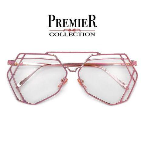 bc16c672d2b19 Premier Collection-Flashy Double Diamond Cutout Shaped Super Chic High  Fashion Eyewear