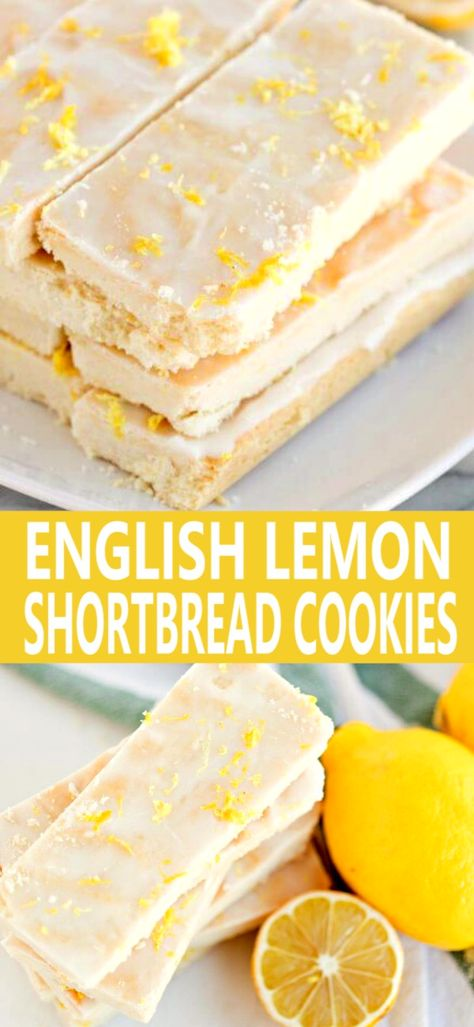 English Lemon Shortbread Strips are tender ,butter laden morsels that will have you begging for more.