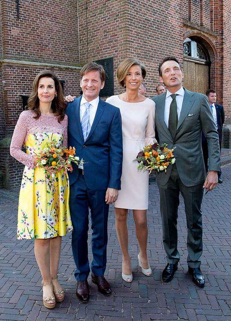 Prince Pieter-Christiaan and Princess Anita to the left, Prince Maurits and Princess Marilene to the right.