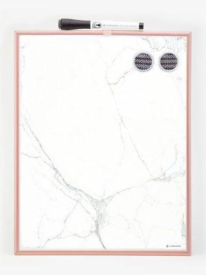 Magnetic Dry Erase Board Copper Frame Marble Print 11 X 14 Glass Dry Erase Board Diy Dry Erase Board Dry Erase Board