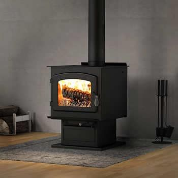 Drolet Escape 1800 Wood Stove On Legs Large 2020 Epa Certified Wood Stove 75 000 Btu Most Efficient Wood Stove Wood Stove High Efficiency Wood Stove