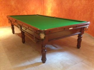 10ft Burroughes And Watts Antique Snooker Table.Restored. | Browns Antiques  Billiards And Interiors. | Antique Snooker Tables For Sale | Pinterest |  Antique ...