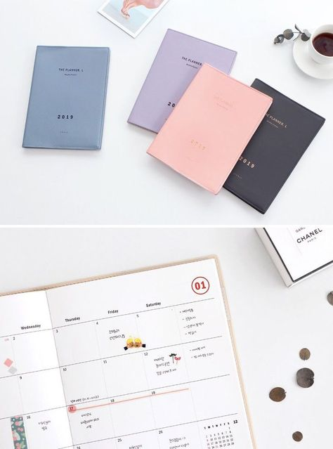 2020 Monthly Planner L 4colors Grid Notebook Monthly Planner