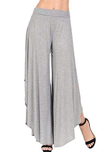 Falda Pantalon Mujer Elegantes Pantalones Verano Cintura Alta Color Solido Culotte Pantalones Pa Pantalones Mujer Pantalones Elegantes Pantalones De Talle Alto