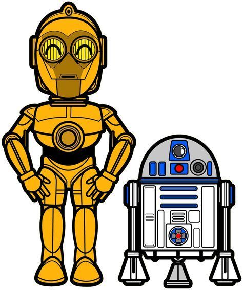 3044 Star Wars C 3po R2d2 Cute Art Height 8 Cm Decal Sticker Baby Star Wars Ideas Of Baby Star W Star Wars Stickers Star Wars Cartoon Star Wars Drawings