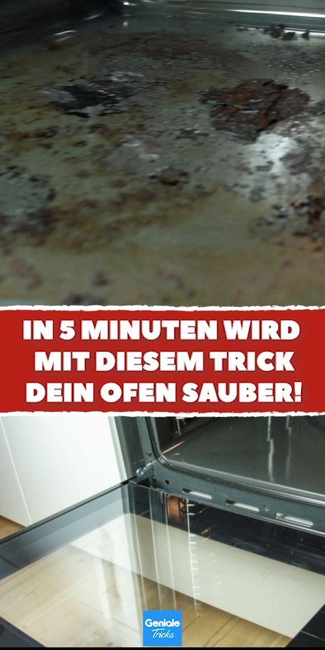 Wer ungern seinen Backofen putzt, wird diesen Tipp lieben. Strahlender Glanz und fast keinen Finger krumm gemacht. #tipps #tricks #putzen