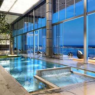 Windows Glass Luxury Apartment City Pool Piscines Interieur