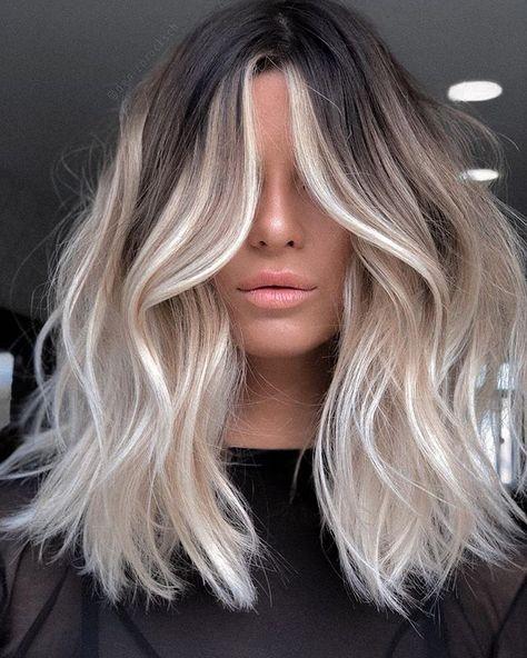 Blonde Hair Looks, Blonde Hair With Highlights, Brown Blonde Hair, Brunette Hair, Hair Color For Black Hair, Blonde Color, Ash Blonde Balayage, Blonde Hair For Fall, Platinum Blonde Hair