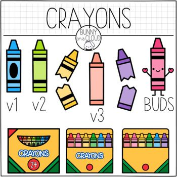 Crayons Clipart By Bunny On A Cloud Clip Art Crayons Quote Crayon