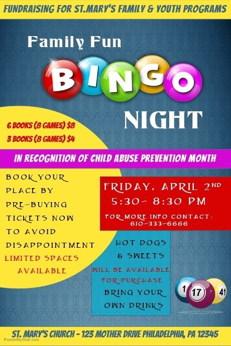 Find Design Templates For Bingo Night Template Easy To Customize Download And Print Or Purchase High Quality Prints Fro Bingo Night Fundraising Poster Bingo