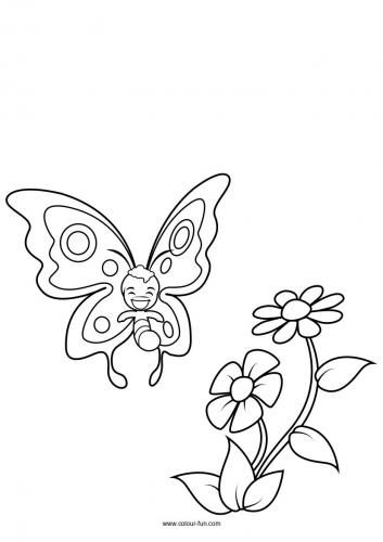 37+ The very hungry caterpillar butterfly coloring page free download