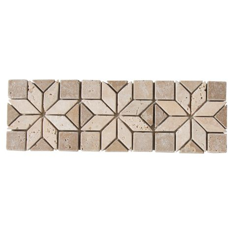 Artisan Travertine Border Travertine Decorative Tile Home