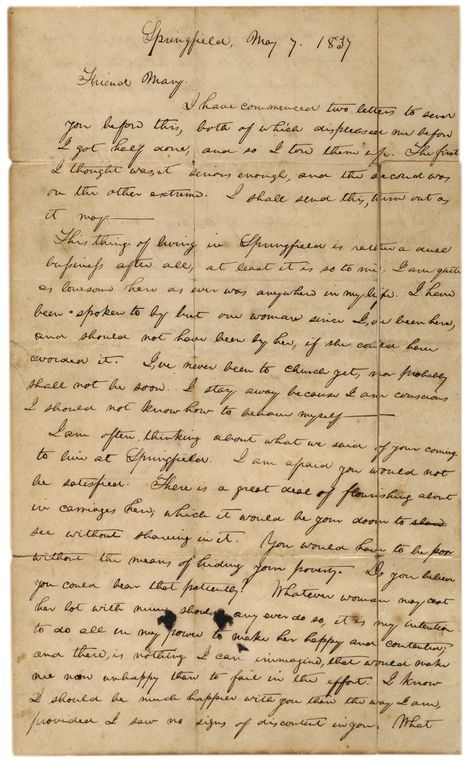 Abraham Lincoln S Mistaken Engagement Abraham Lincoln Lincoln