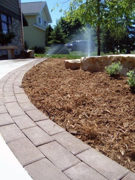 Top 40 Best Driveway Edging Ideas Inviting Border Designs Driveway Edging Landscape Design Backyard Landscaping