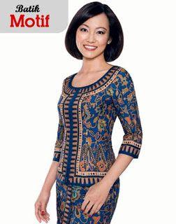 Model Baju Batik Kerja Bank Mandiri Modern Model Baju Wanita Model Pakaian Pakaian Wanita