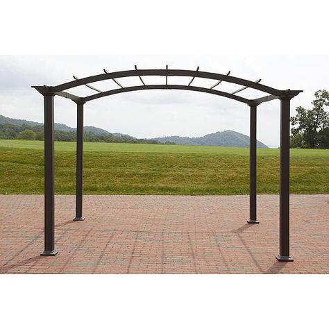 Garden Oasis 8ft X 10ft Steel Pergola With Open Roof Pergola Gazebo Pergola Steel Pergola