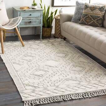 Brody Geometric Handmade Tufted Wool Ivory Gray Area Rug In 2021 Wool Area Rugs Beige Area Rugs Cream Colored Rug