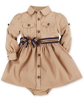 Ralph Lauren Baby Girls Shirtdress Babykleidung Madchen Babymoden Madchen Kleines Madchen