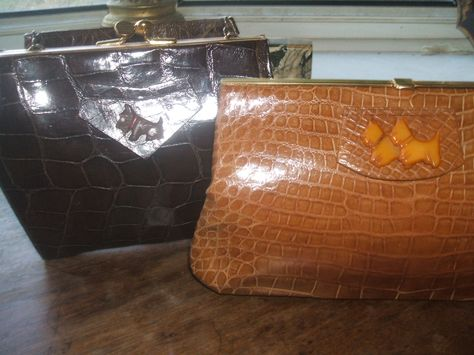 my two scotty dog and crocodile 30s bags