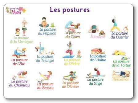 Affichage des postures de yoga de l'appli Mon ptit Yoga