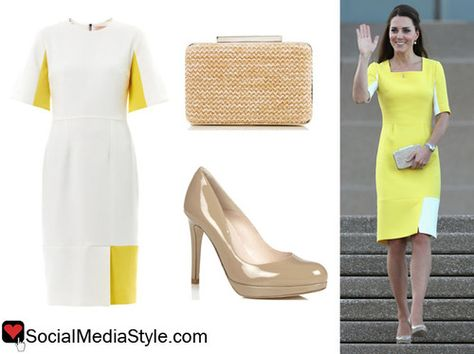 Yellow n white dress