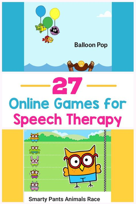 27 Free Online Speech Teletherapy Games for Kids