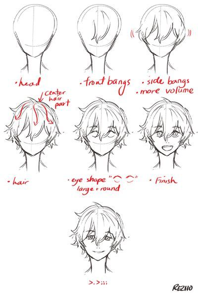 Discovered By The Quirk Kid Find Images And Videos About Cute Anime And Awesom Drawing Male Hair Guy Drawing Manga Drawing Tutorials