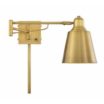 Kilwin 1 Light Plug In Armed Sconce Reviews Allmodern In 2020 Sconces Swing Arm Lamp Traditional Chandelier