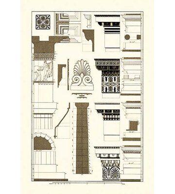 Buyenlarge Details Of The Parthenon At Athens By J Buhlmann Graphic Art Wayfair In 2020 Parthenon Art Prints Renaissance Architecture