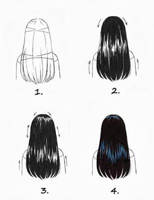 Copic Markers Germany Blog Colorize Black Hair Drawing Hair Tutorial How To Draw Hair Copic Marker Art