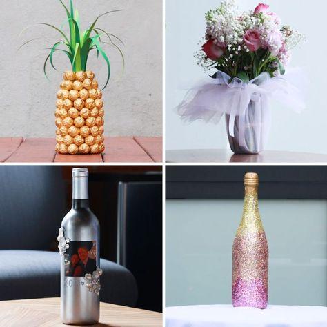 4 Unique Ways to Gift a Bottle #DIY #gift #champagne  #Bottle #Champagne #decoration #decorations #DIY #gift #Unique #Ways