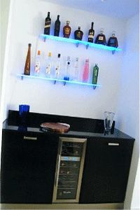 LED Lighted Wall Mounted Liquor Shelves Bottle Display | Bottle Display,  Liquor And Wall Mount