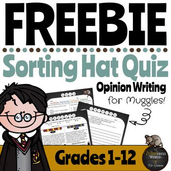 Harry Potter Themed Classroom Sorting Hat Quiz By The Wanderful World Of Mr Swenson Teach Opinion Writing Activities Beginning Of School Teacher Resources
