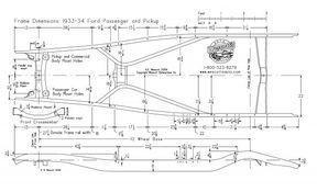 Ford Frame Diagram 1933 34 Ford Trucks Ford Roadster Diesel Trucks Ford