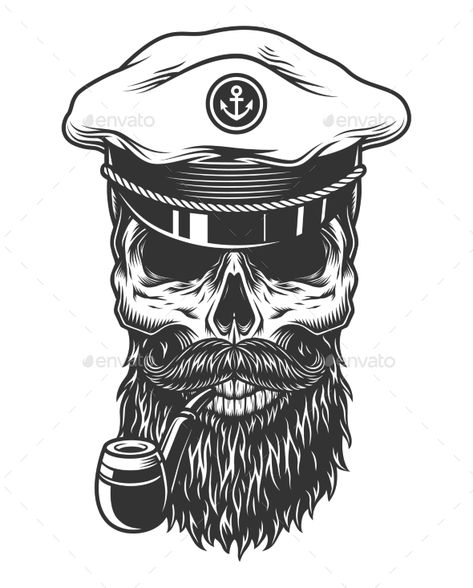 Monochrome Vintage Skull - Miscellaneous Vectors