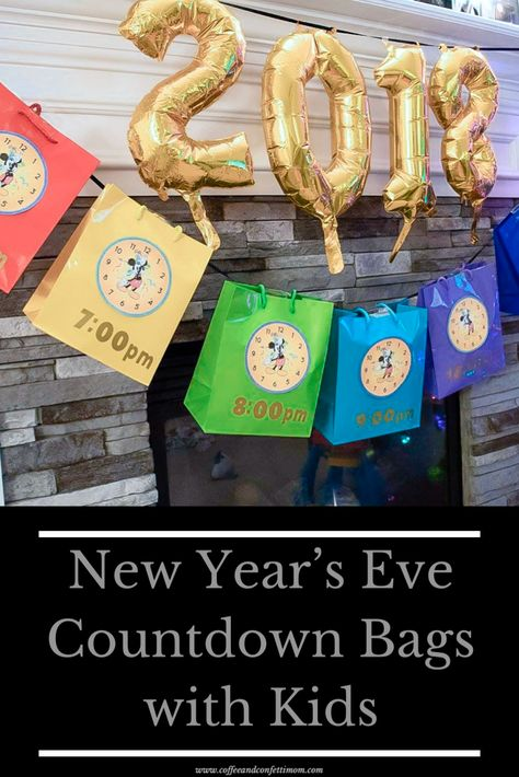 New Years With Kids, Kids New Years Eve, New Years Eve Games, New Years Eve Party Ideas For Family, New Year's Eve Party Themes, New Years Tree, New Years Eve Decorations, Countdown For Kids, New Year's Eve Countdown