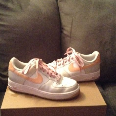 Pink White Glitter Bling Nike Air Force