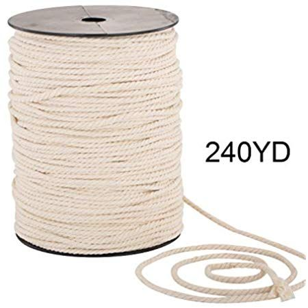 100 Yards//2mm//19 Colors Brown 100 DIY Macrame Cord Craft Macram/é Cotton Baker Twine Craft Making Knitting Cord Rope DIY Wedding Decor Supply Christmas Wrapping String Rope