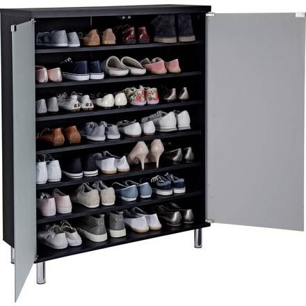 Buy Home Large Slatted Shoe Cabinet Mahogany Effect At Argos Co