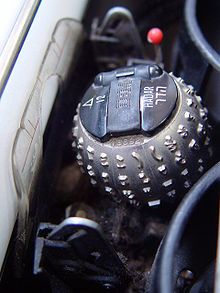 "IBM Selectric electric typewriter typing element also known as the ""Golf Ball"" ."