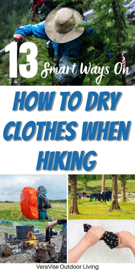 Knowing how to dry clothes when hiking makes your life outdoors more bearable.Here are the best ways that you can dry your wet clothes when hiking.