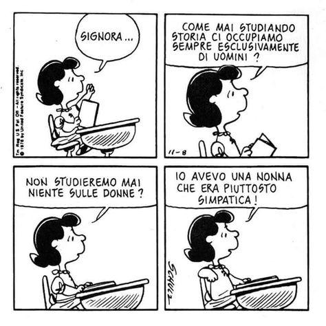 peanuts #lucy #donne #storia #nonna | Citazioni umoristiche ...