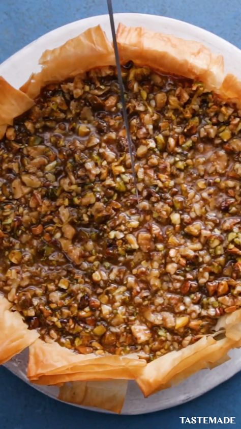 We combined baklava and cheesecake into your new favorite dessert.