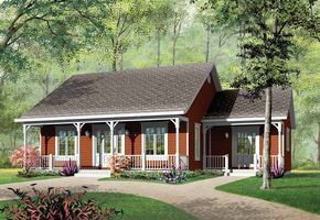 Cottage Style House Plan 3 Beds 1 Baths 1147 Sq Ft Plan 23 320 In 2020 Cottage Style House Plans Country Style House Plans Ranch House Plans