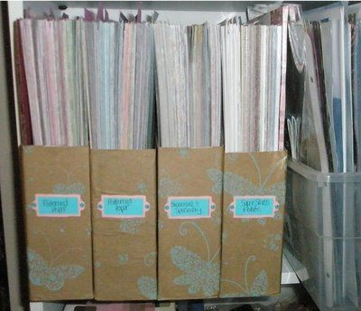 How To Make 12 X 12 Magazine Holder Style Boxes Craft Paper Storage Scrapbook Paper Storage Paper Storage