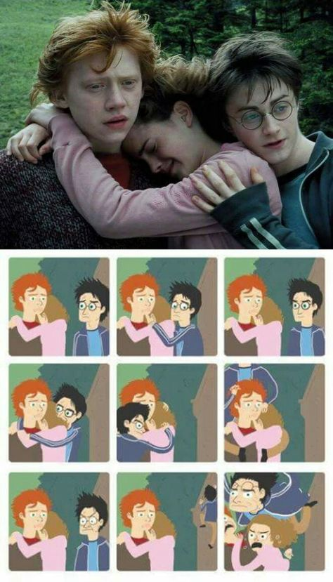 HARRY POTTER and the dispair of third wheel