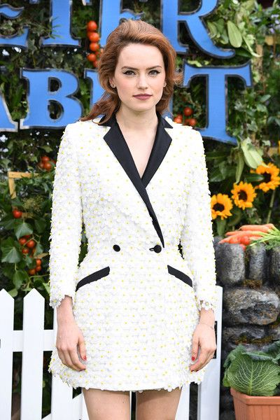 Actress Daisy Ridley attends the U.K. Gala Premiere of 'Peter Rabbit' at the Vue West End.