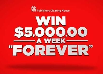 PCH $5,000 A Week Forever Sweepstakes – Win $5,000 A Week For Your