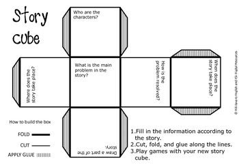 Creating A Story Cube Who What Where When Graphic Organizer